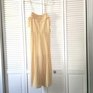 NWT Altar'd State Malibu Yellow/White Jumpsuit